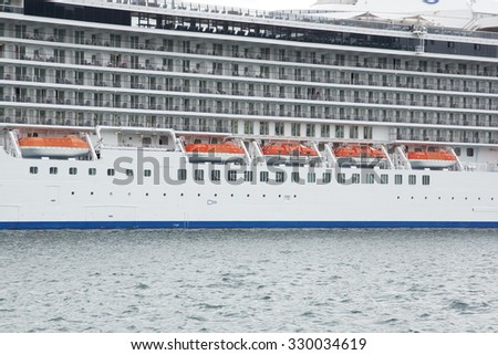 safety boats of cruise ship