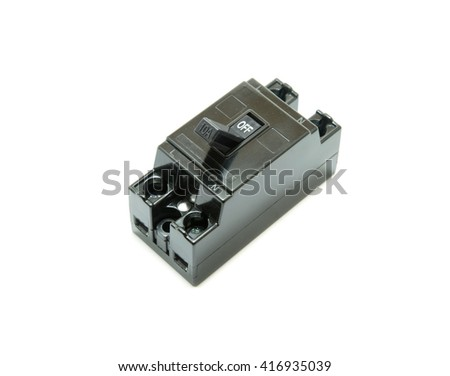 safety breaker on white background - stock photo