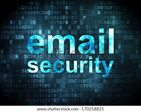 Safety concept: pixelated words Email Security on digital background, 3d render - stock photo