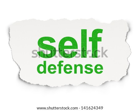 ... with words Self Defense on Paper background, 3d render - stock photo