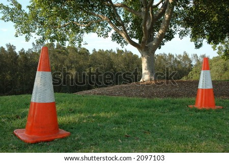 safety cone - stock photo