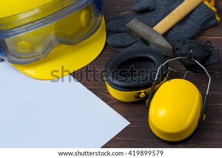 Safety, Construction, Occupation. - stock photo
