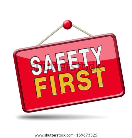 safety first rules  - stock photo