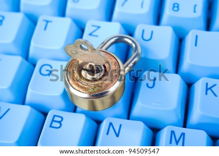 safety for your computer - stock photo