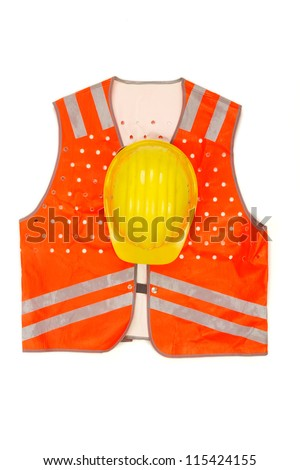 safety-gear on white. - stock photo