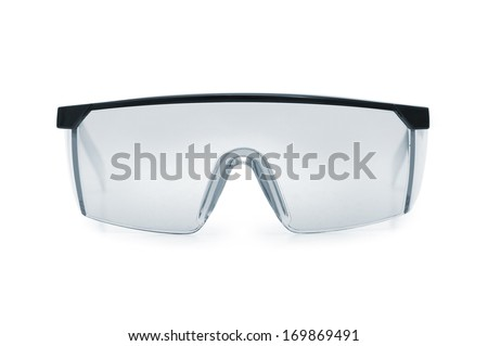 Safety glasses isolated on a white background. - stock photo