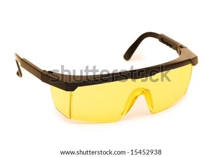 Safety glasses isolated on the white background - stock photo