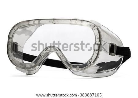 Safety glasses, isolated on white background - stock photo