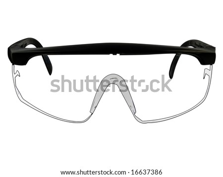 Safety Goggles Glasses Illustration Isolated On White - stock photo