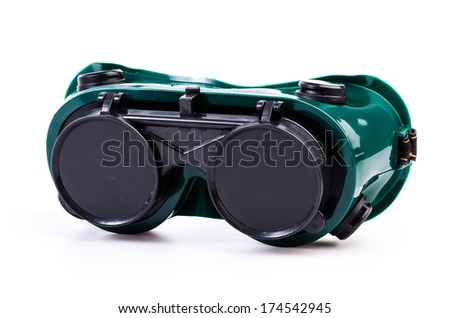 Safety Goggles on isolated white background