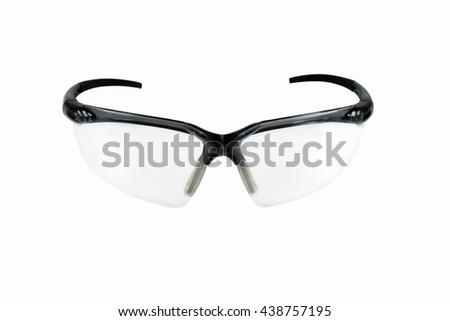 Safety goggles, Safety glasses isolated on white background - stock photo