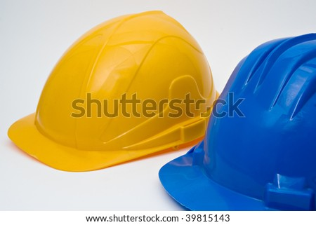 Safety helmet for workers - stock photo