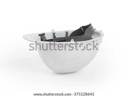Safety helmet isolated on a white background - stock photo