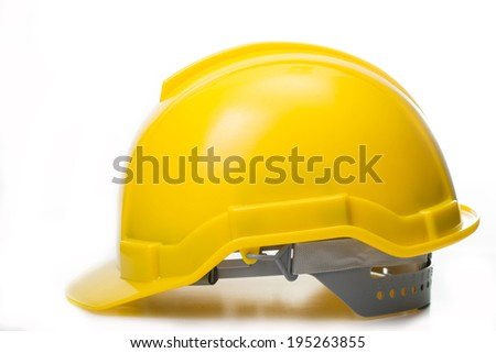 Safety helmet  isolated with white background - stock photo