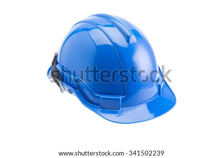 Safety helmet on isolated white background,cliping path - stock photo