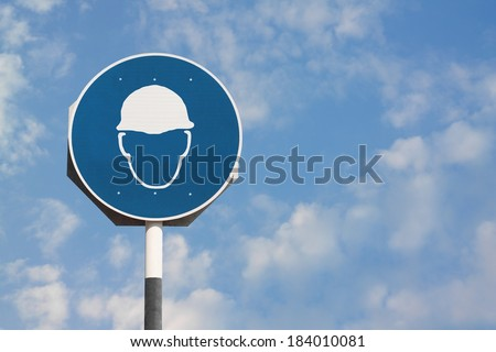 Safety Helmet Sign - stock photo