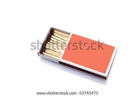 safety matches isolated on white - stock photo