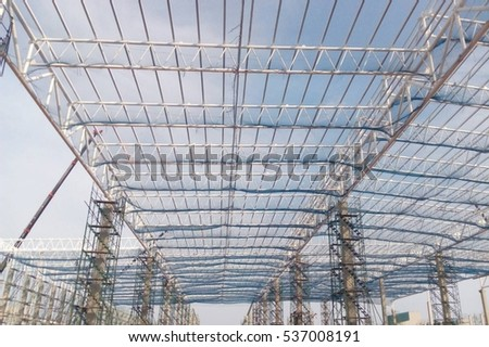 Safety net  on construction
