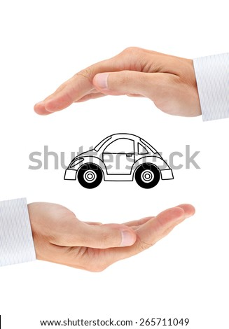 Safety of your car. Conceptual insurance image