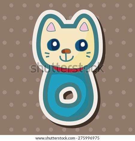 safety pin , cartoon sticker icon - stock photo