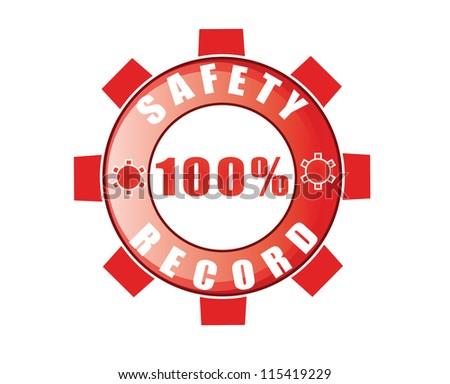 safety record logo - stock photo