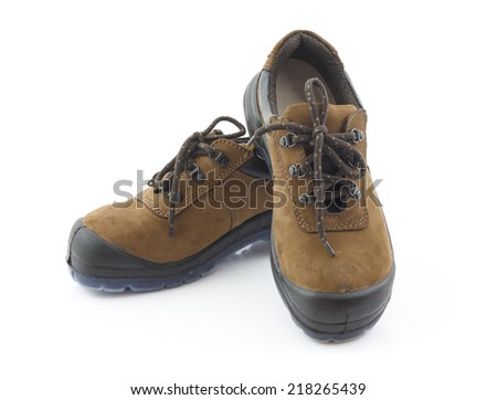 Safety shoes isolated and white background