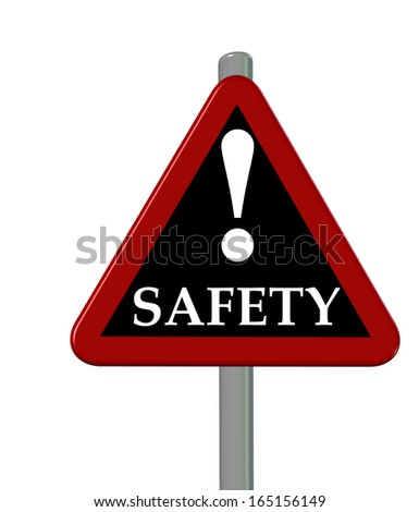 safety sign - stock photo