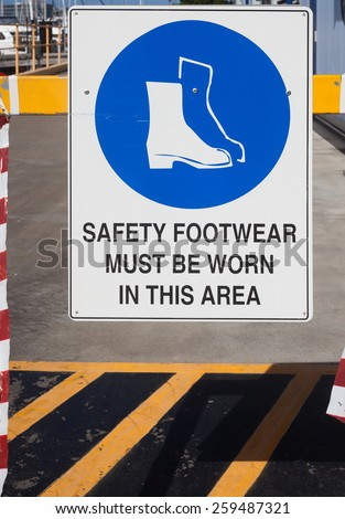 safety sign on building site - stock photo