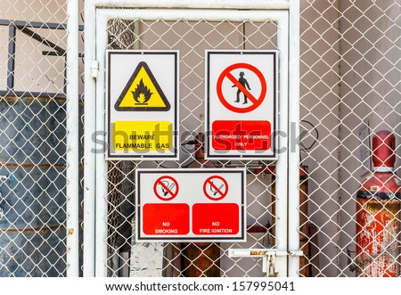 safety signs broad  - stock photo