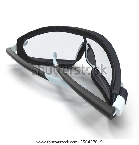 Safety Sport Glasses on white. 3D illustration