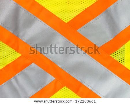 Safety vest reflective tape - stock photo