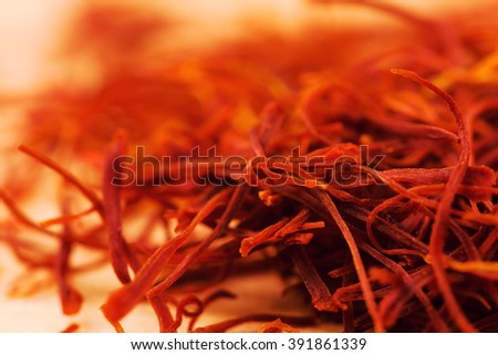saffron - stock photo