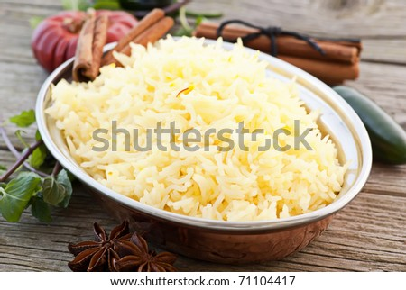 Saffron Rice - stock photo