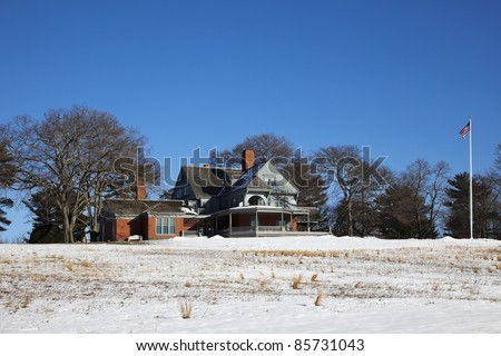 Sagamore Hill home of the 26th president of the United States, Theodore Roosevelt. He lived there from 1885 until his death in 1919. In 1962 Congress established Sagamore Hill National Historic Site. - stock photo