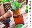 Sage oil - stock photo