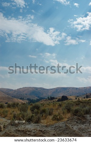 Sagebrush steppe and hills of the Columbia plateau