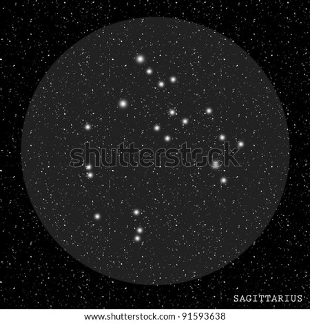 Sagittarius Zodiac Constellation - stock photo