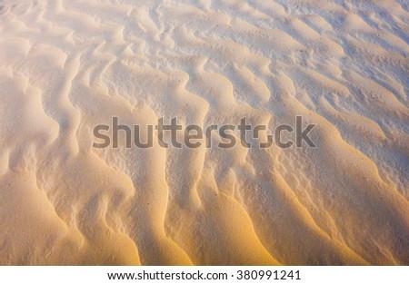 Sahara desert. Desert storm and Mist. Windy day. Natural desert texture and background - stock photo