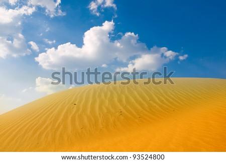 Sahara desert landscape - stock photo