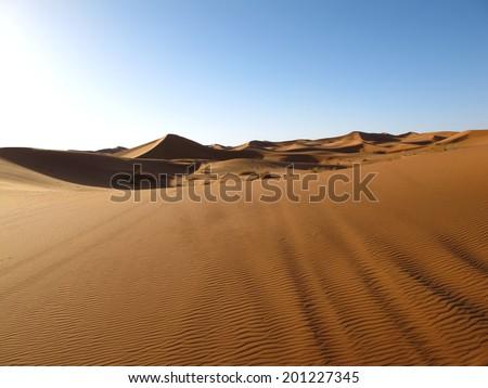 Sahara desert, Morocco - stock photo