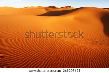 Sahara Desert, Morocco - stock photo