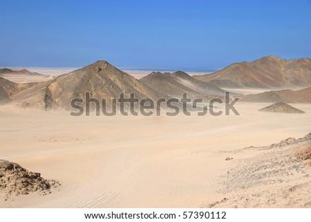 Sahara dry desert by Hurghada, Egypt - stock photo
