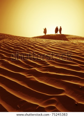 Sahara horizon - stock photo