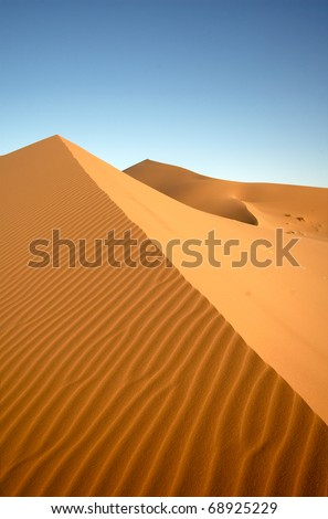 Saharan desert at Erg Chebbi, Morocco - stock photo