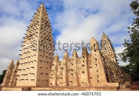 Sahelian mosque - stock photo