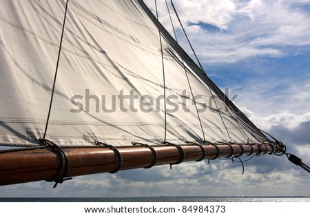 Sail as background - stock photo