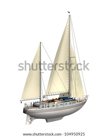 Sail boat - stock photo
