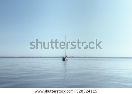 sail boat in brittany, france