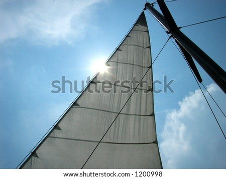 sail on the blue in the Black sea