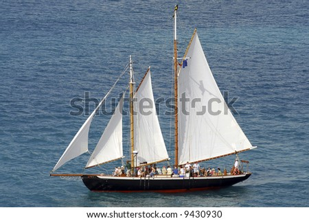 Sail ship - stock photo